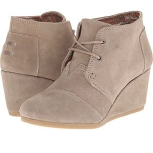 TOMS Wedge Booties Size 7 Shoes